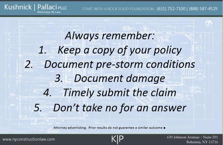 Long Island Storm Damage Lawyers: Submitting a Property